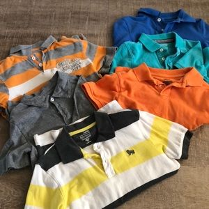 Other - Six, size 7 & 8, polo shirts for boys.  Assorted.